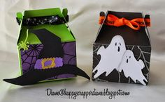 Diane's Crafty Place: Wednesday Daily Project for Exploring Cricut Halloween Gift Baskets, Halloween Treat Boxes, Halloween Cards, Holidays Halloween, Halloween Treats, Halloween Stuff, Pillow Treats, Gable Boxes, Cricut Cards