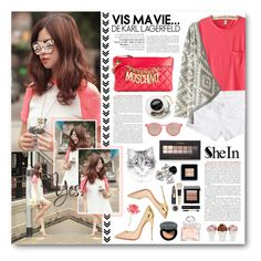 """Maya"" by warna ❤ liked on Polyvore featuring мода, Christian Louboutin, Moschino, Le Specs, Sin, Guerlain, Forever 21, Bobbi Brown Cosmetics и Universal Lighting and Decor"