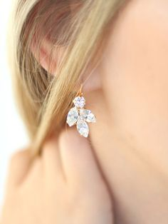Bridal Crystal Earrings,Swarovski Bridal Crystal Earrings,Bridal Drop Earrings,Bridesmaids Earrings,Crystal Bridal Earrings,