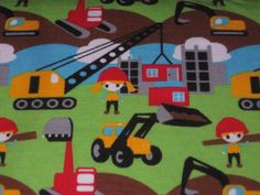 "Jersey ""Trucks"" Sweden Design  Fabric for Kids"