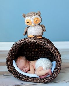 Love the idea of the basket on it's side for newborn photo.