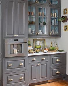 nice 44 Charming Custom Kitchens Cabinets Designs https://matchness.com/2017/12/16/44-charming-custom-kitchens-cabinets-designs/