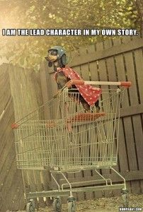 """superhero dachshund in a shopping cart. If I ever owned a dachshund I would name him """"Edward Longshanks"""" Funny Dogs, Funny Animals, Cute Animals, Baby Animals, Funny Puppies, Animal Jokes, I Love Dogs, Cute Dogs, Animal Pictures"""
