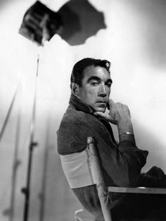 Anthony Quinn Canvas Art - x Tyrone Power, Classic Hollywood, Old Hollywood, Hollywood Cinema, Hollywood Glamour, Lion Of The Desert, Zorba The Greek, Anthony Quinn, Celebrities Then And Now