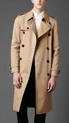Burberry - Long Cotton Gabardine Trench Coat