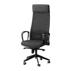 IKEA - MARKUS, Krzesło obrotowe, Vissle ciemnoszary, , Gwarancja 10 lat. Więcej informacji w broszurze gwarancyjnej.