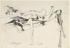 Untitled, 1941, ink drawing - Emmy Bridgwater
