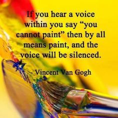 You know this can be applied to anything you want to do. When your inner critic says no silence it by doing it anyway. Whether your passion is painting, singing, writing, dancing, teaching, or even deep sea fishing. Whatever it is just do it!