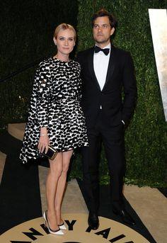 Diane Kruger (in Giambattista Valli) and Joshua Jackson <3 #VanityFair