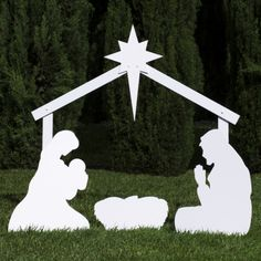 Silhouette Outdoor Nativity Set - Holy Family Scene - Outdoor Nativity Store