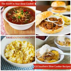 If you love your slow cooker, then you will love this collection of 18 Southern Slow Cooker Recipes. It includes everything from soup to pulled pork.