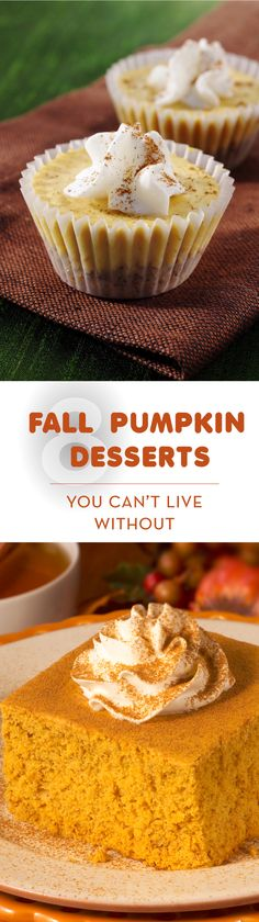 8 fall pumpkin dessert recipes you can't live without