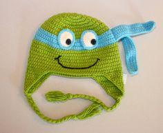 Ninja Turtles Hand Crochet Hat
