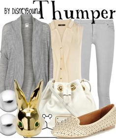 Thumper outfit - by disneybound I love this outfit<3.The yellow/skin colored shirt is this outfit wow factor.