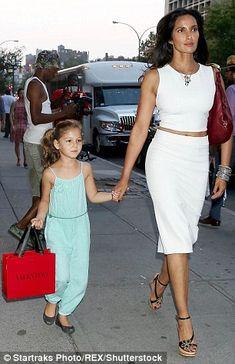 Lakshmi pictured with her daughter Krishna last September