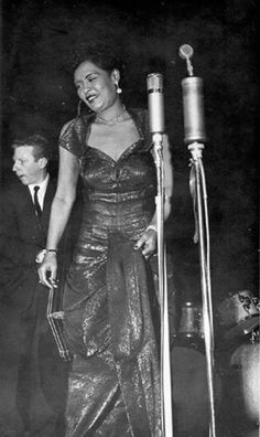 BILLIE HOLIDAY (with bassist Red Mitchell)
