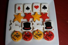 Magic Show Magic Party 4 Dozen Mini Cookies by thetalentedcookie Can put on top of cupcake