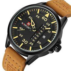 Renwangda Men's Quartz Watches Auto Date Clock Leather Strap Army Military Sports Wrist Watch  #army #Auto #Clock #Date #Leather #Men's #military #quartz #Renwangda #Sports #Strap #Watch #watches #Wrist MonitorWatches.com