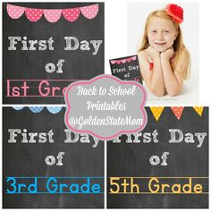 Free back to school printables from @Goldenstatemom