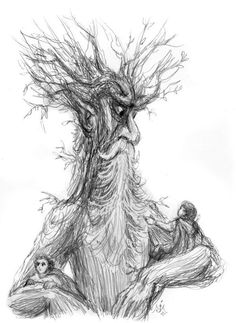 'Treebeard, Merry and Pippin' by Jef Murray