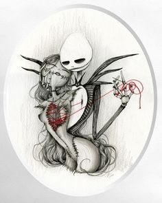 http://fashion-makeup1.blogspot.com - Jack and Sally by Latitia Lamblin