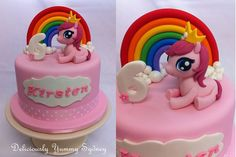 I loved My Little Pony. They are too cute so I can never get tired of making My Little Pony Cake. My Little Pony Unicorn, My Little Pony Cake, My Little Pony Birthday Party, Birthday Cake Girls, Mlp Cake, Girly Cakes, Cake Topper Tutorial, Beautiful Birthday Cakes, Cake Ideas