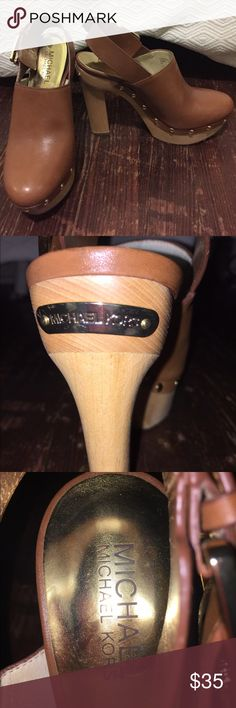 Michael Kors Clogs 5 inch heel, only worn once, super comfortable and true to size. Feel free to make offers MICHAEL Michael Kors Shoes Heels