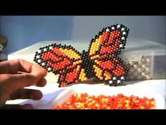 Jewelry Patterns, Beading Patterns, Bead Jewellery, Beaded Jewelry, Tulle Skirt Tutorial, Butterfly Project, Tiny Stud Earrings, Earring Tutorial, Beaded Animals