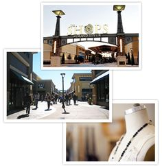 three images showing the outside of the Grand River Outlets: http://www.shopsofgrandriver.com/