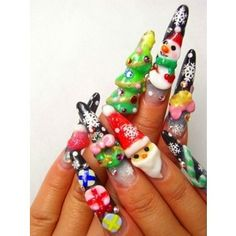 409 Best Christmas Nail Art Images On Pinterest Christmas Manicure