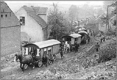 Roma Gypsy caravan...look how far back the wagons go. :) by freida