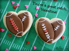 football valentine cookie tutorial - You're a Catch, Valentine! - by melissa joy cookies