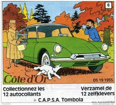 Citroen DS in Tintin with the famous Castafiore, Captain Haddock and Milou names in french Citroen Ds, Captain Haddock, Comic Art, Comic Books, Ligne Claire, Wire Fox Terrier, Car Illustration, Car Posters, My Dream Car