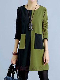 Ericdress Patchwork Casual Dress Casual Dresses