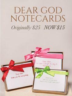 Dear God Notecards