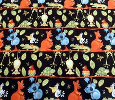 Kangaroo Fabric Koala Bear Material Aussie Mates Cotton Fabric Henry Glass by Quiltwear on Etsy