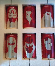 Marvel Coca-Cola Cans Designed by Artist Noma Bar via /r/Art...