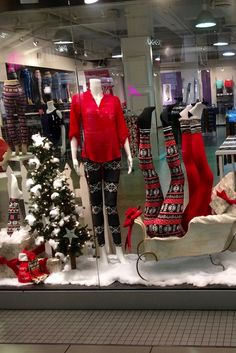 Fun Fashions Bay Centre  Christmas 2016 funfashions.com PropaganZa Visual Display & Design Visual Display, Display Design, Christmas 2016, Christmas Tree, Christmas Window Display, Christmas Sweaters, Centre, Cool Style, Holiday Decor