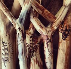 Wood Burning in Wood