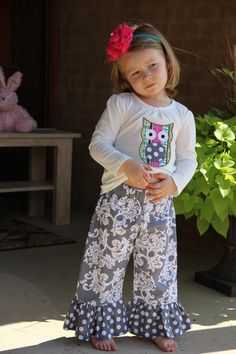 Girls ruffle pants by PinkPumpkinShop on Etsy, $22.00