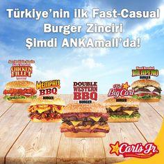Ankara, beklediği büyük lezzetle ANKAmall'da buluşuyor. Carl's Jr. ile#devirdegisti artık devir büyük hamburgerler, limitsiz içecek, sınırsız sos ve masaya servis yani Fast-Casual devri!