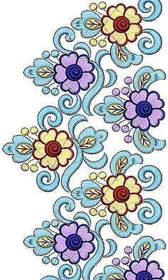 Latest Blouse Border Lace Embroidery Design