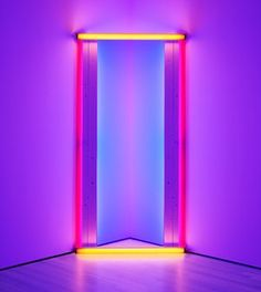 Dan Flavin's untitled (to Barnett Newman) two (1971).