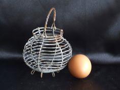 Egg Basket//Wire Egg Basket//Little vintage French Wire Basket//Wire Basket//Child's Egg Basket//French Salad Shaker//Small Salad Shaker - pinned by pin4etsy.com