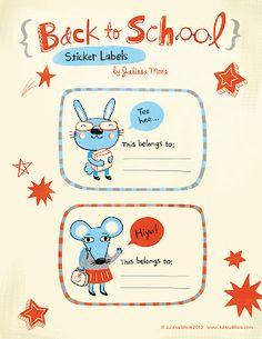 Mami, ¿Te ayudo?: Etiquetas para libros, bookplates, school labels...
