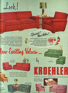 Koehler 1950 Furniture Ads, Dreaming Of You, Household, Movie Posters, Movies, Films, Film, Movie, Movie Quotes