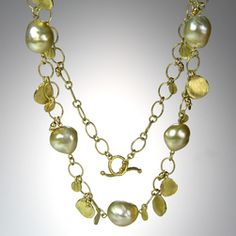 @QUADRUM - Necklaces - Barbara Heinrich - Pearls and Chain?!  YES!
