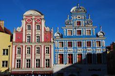 Les façades colorées du centre ville de Szczecin - Photo © zkvrev  - Flickr.com #Pologne #Szczecin