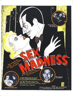 Fantastic Glossy Print - 'Sex Madness' - Taken From A Rare Vintage Movie / Film Poster (Vintage Movie / Film Posters) Vintage Movies, Vintage Posters, Moral Panic, Reefer Madness, Streaming Tv Shows, Burlesque Show, Bob Dylan, Film Movie, Metal Signs
