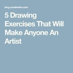 """Pencil Drawing Tutorials 5 Drawing Exercises That Will Make Anyone An Artist - """"I can't draw!"""" people always say — but is it true? These 5 drawing exercises can help you get better at drawing — and make you more creative. Drawing Practice, Drawing Skills, Drawing Tips, Drawing Ideas, Learn Drawing, Drawing Hair, Basic Drawing, Drawing Drawing, Drawing Artist"""